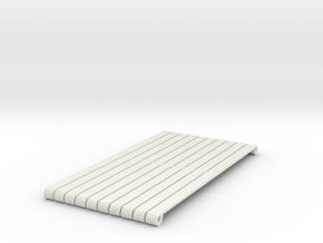 16AC13 Plain Drawbars For Slab Wagons in White Natural Versatile Plastic