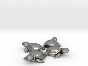 TMNT Little Turtles (4 pieces bundle) in Natural Silver