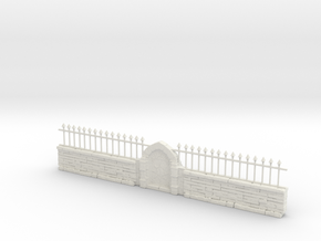 HO Scale Garden Wall in White Natural Versatile Plastic