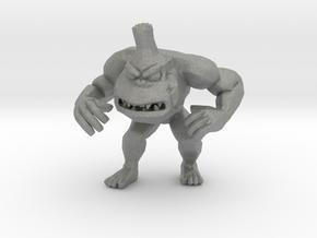 Rampage George 59mm miniature model kaiju monster in Gray PA12