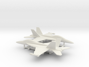 Boeing F/A-18F Super Hornet in White Natural Versatile Plastic: 6mm