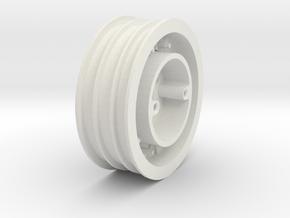 Monster Truck Transport Wheel in White Natural Versatile Plastic: 1:10