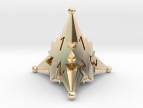 D4 Balanced - Starlight (Gold Plated) in 14k Gold Plated Brass
