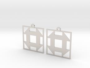 Churn Dash Earrings in Platinum