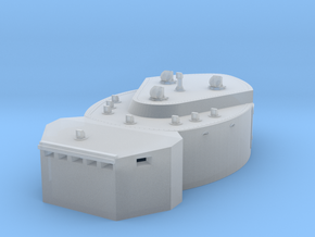 1/400 DKM Scharnhorst-fire control post fore in Smoothest Fine Detail Plastic