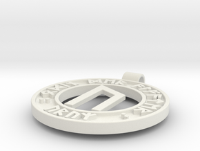 Runen Anhänger URUZ in White Natural Versatile Plastic