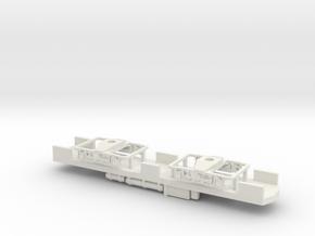 CNSM 606 line car underframe N Scale in White Natural Versatile Plastic
