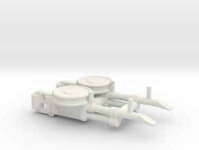 Dual-VickersK-Assem.v3 in White Natural Versatile Plastic