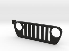 """Jeep Wrangler JL (2018-today) REPLICA - dim. 3.7"""" in Black Natural Versatile Plastic"""