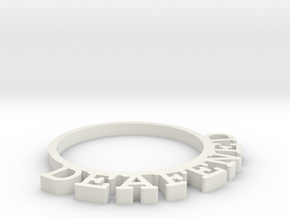 D&D Condition Ring, Deafened in White Natural Versatile Plastic
