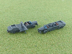 German 8,8 cm Flak on VOMAG Truck 1941 1/285 6mm in Smooth Fine Detail Plastic