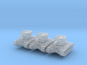 M45 Pershing (no skirts) (x3) 1/285 in Smooth Fine Detail Plastic