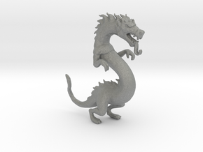 Chinese Ancient Dragon 55mm miniature fantasy game in Gray PA12