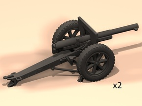 1/100 75mm French cannon 1897/1938 in Smooth Fine Detail Plastic