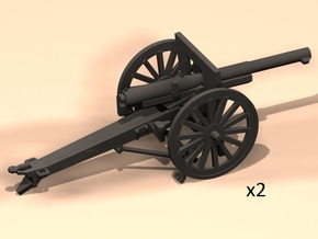 1/100 75mm French cannon m1897 in Smooth Fine Detail Plastic