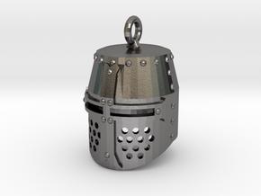 Crusader Helmet in Polished Nickel Steel