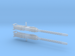 Browning Machine Gun 50 Calibre 1:20 scale (pair) in Smoothest Fine Detail Plastic