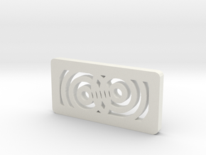 Titan Side Concentric - Closer to Laser in White Natural Versatile Plastic