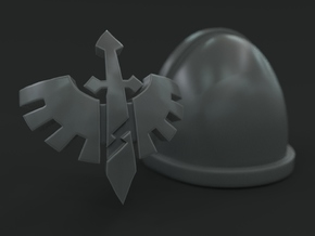 30-60x Classic Deathwing Emblem for Shoulder Pads in Smooth Fine Detail Plastic: Large