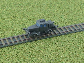 German Hanomag SS100 Rail-Truck 1/285 6mm in Smooth Fine Detail Plastic
