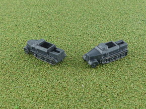 Armored sd.Kfz. 7 8to Prime Mover 1/285 6mm in Smooth Fine Detail Plastic