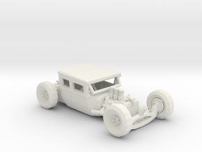 Low Top Rat Rod 1:160 scale in White Natural Versatile Plastic