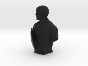 Captain America  in Black Natural Versatile Plastic: Small
