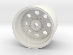 Rear Drag Wheel for AMC Gremlin in White Natural Versatile Plastic
