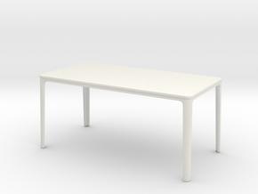 1:12 Miniature Plate Dining Table -Jasper Morrison in White Natural Versatile Plastic: 1:12