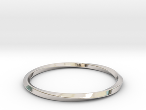 Mobius Bracelet - 360 in Rhodium Plated Brass: Small