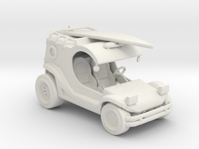 Beach Patrol Buggy 1:160 scale. in White Natural Versatile Plastic