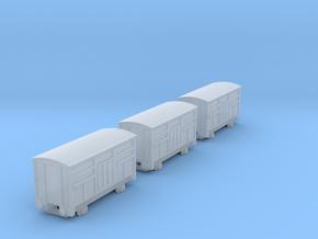 T-gauge 3 Cattlevans  - Custom Wheels, see descrip in Smooth Fine Detail Plastic