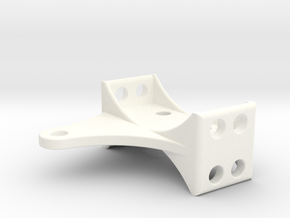 Losi MRC Rear Upper Link Mount in White Strong & Flexible Polished