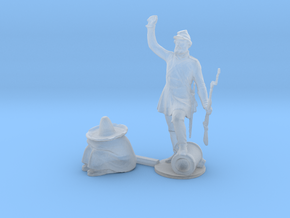 HO Scale Soldier and Siesta in Smooth Fine Detail Plastic