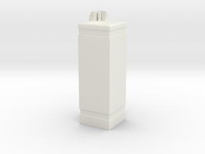 Drinking Fountain 1/18 in White Natural Versatile Plastic