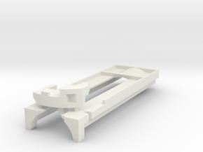 Metal Master 2.0 plate + spacer (18650) in White Natural Versatile Plastic