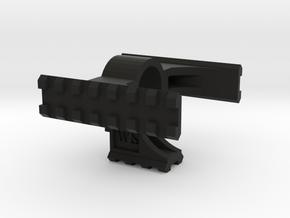 Airsoft M249 Bipod Rail - Tri rail Long in Black Natural Versatile Plastic