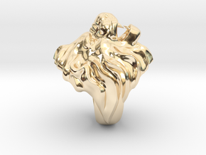 Lion Ring in 14K Yellow Gold: 6 / 51.5