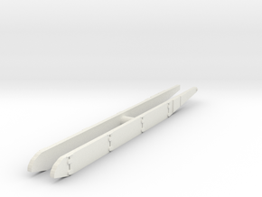 T-72 Side Skirts set 1/87 in White Natural Versatile Plastic