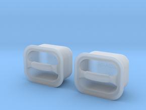 1.18 fenestron handle X2 in Smooth Fine Detail Plastic