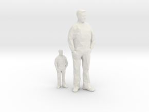Architectural Man - 1:50 + 1:100 - Standing in White Natural Versatile Plastic