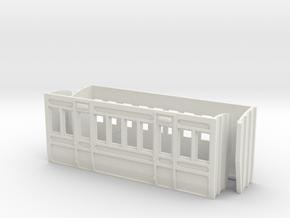 O Gauge Lartigue Coach Parts in White Natural Versatile Plastic
