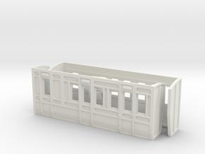 O Gauge Lartigue Brake Coach Parts in White Natural Versatile Plastic