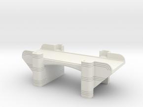 N Art Deco Underpass in White Natural Versatile Plastic