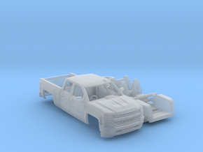 Chevy Silverado 1-72 Scale in Smooth Fine Detail Plastic