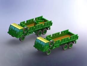 Faun 908/54 VA 6x6 10to Truck 1/200 in Smooth Fine Detail Plastic