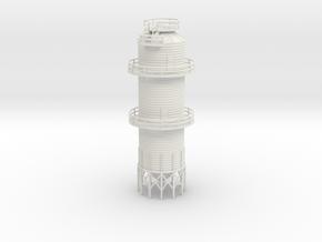 'HO Scale' - 2500 Grain Dryer in White Natural Versatile Plastic