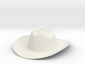 1:14 Cowboy Hut hat for Tamiya Trucks in White Natural Versatile Plastic