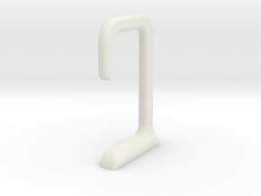 USB under desk cable hook in White Natural Versatile Plastic