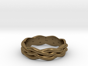 Braided Ring 7 N½ (other sizes available) in Natural Bronze